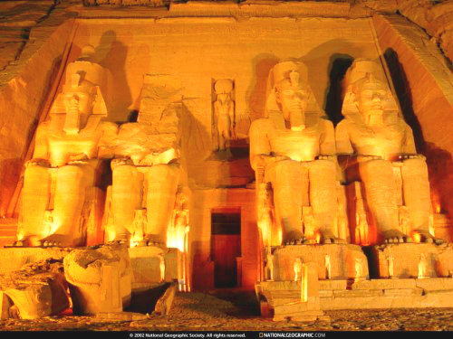 Abu Simbel carved in 13th century BC