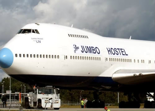 Jumbo Hostel in Sweden