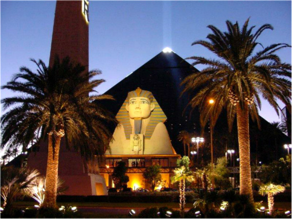 Luxor Hotel in USA