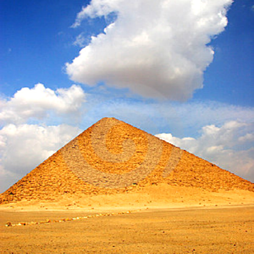 Red Pyramid located at the Dahshur necropolis