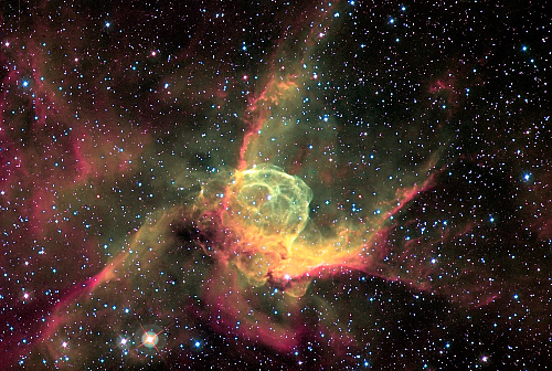Thor Helmet Shaped Nebula