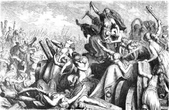 Teutonic Women mass suicide