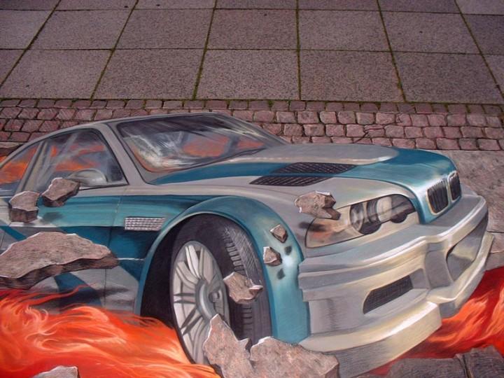 10 Amazing 3D Street Illusion